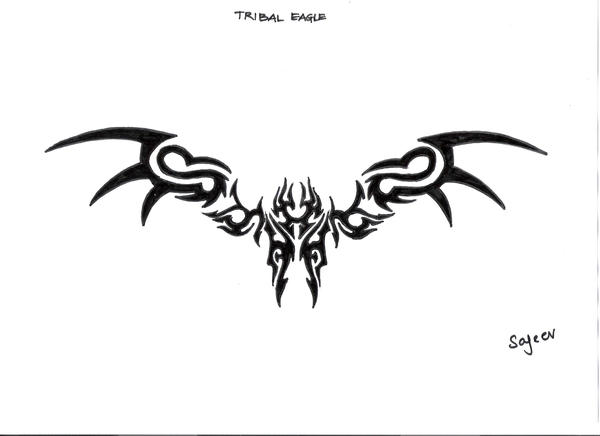 tribal eagle tattoos - dani faith 1029