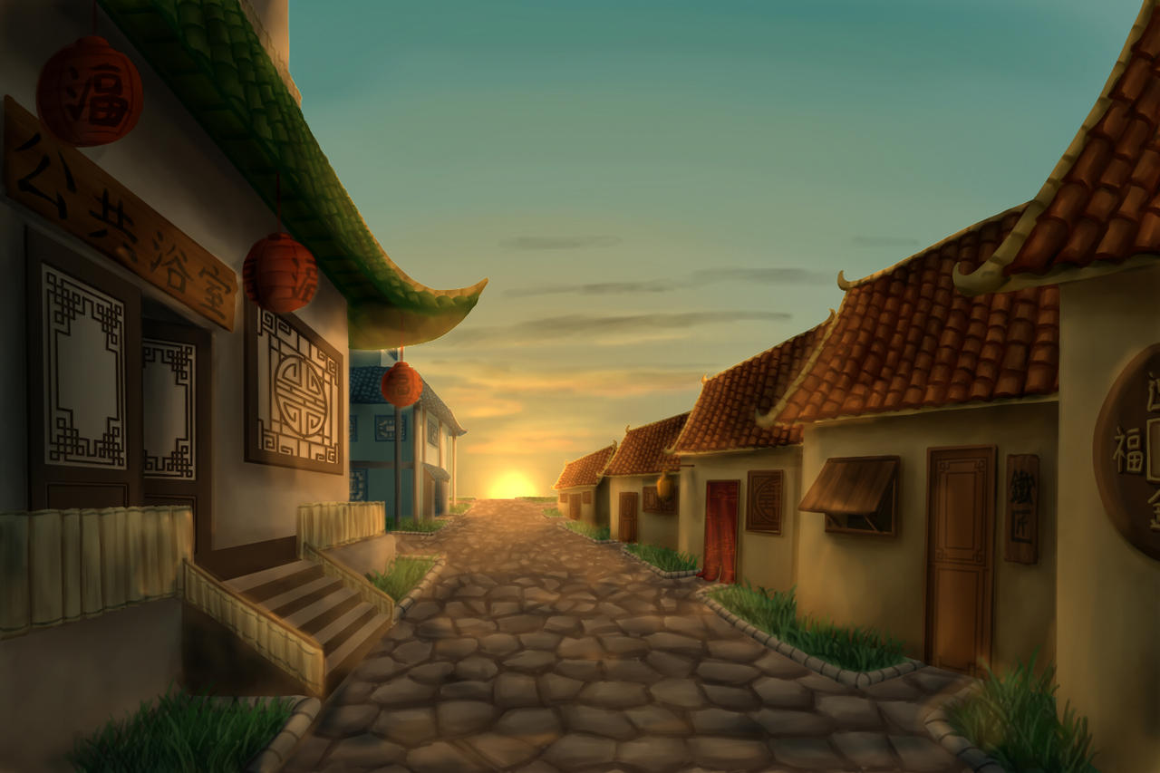 IoQ - Village at Dawn by Kenton-Alkemi
