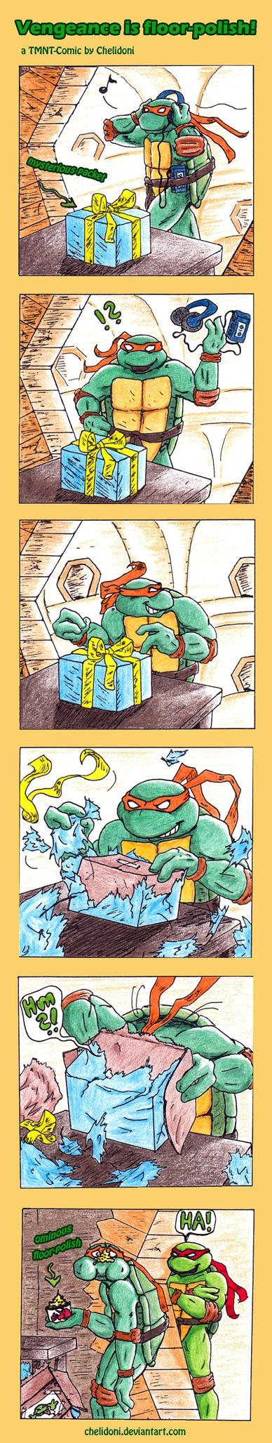 TMNT-comic: Vengeance is floor-polish! by Chelidoni