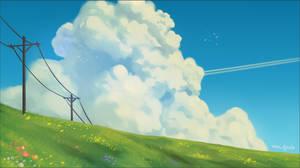 Ghibli style painting