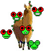 Frogs on a Llama by FriendFrog