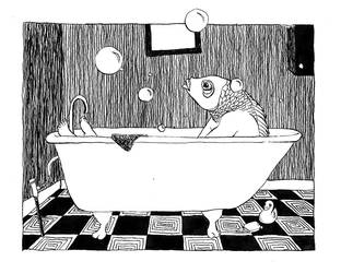 Arthur and his bath... by sarahjane62