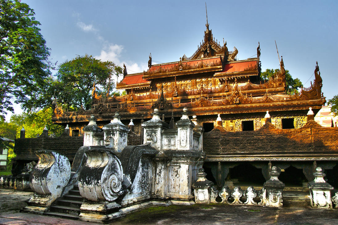 Shwenandaw Monastery By Citizenfresh On Deviantart