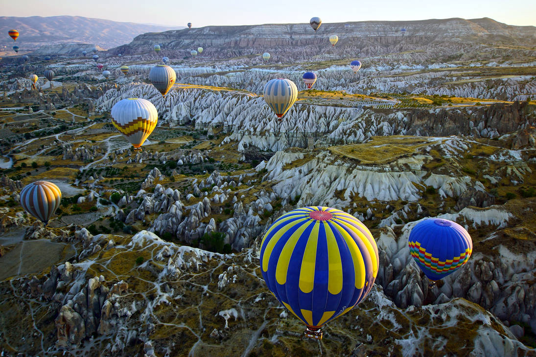 Balloons over Cappadocia by CitizenFresh