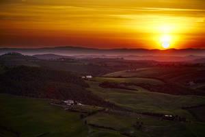 Sunset Over Montepulciano by CitizenFresh