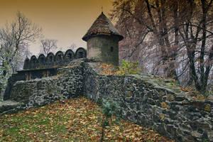 Grodziec Castle In Winter by CitizenFresh