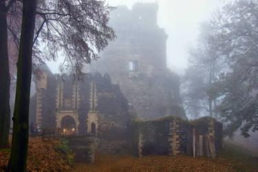 Grodziec Castle In Winter 4 by CitizenFresh