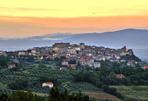Sunset over Chianciano Terme by CitizenFresh