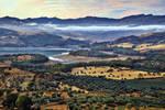 Evening over beautiful Sicily