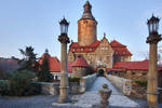 Sunset Over The Czocha Castle 2