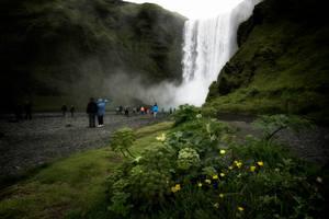 Skogafoss waterfall in the rain 2 by CitizenFresh
