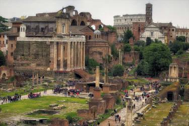 Forum Romanum 6 (in the background the Coliseum) by CitizenFresh