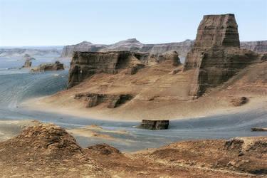 Dasht-e Loot (Emptiness Desert): Kaluts by CitizenFresh
