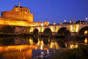 Rome by night -Castel Sant'Angelo by CitizenFresh