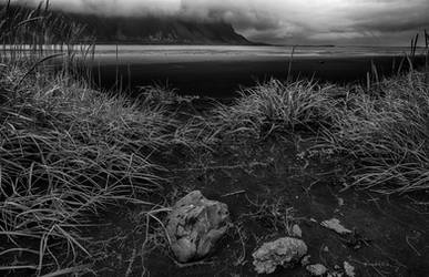 Beautiful Iceland 12 -black beach /outflow/ by CitizenFresh