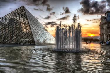 Sunset over Paris 3 by CitizenFresh