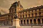 Paris,Paris..sunset over the Louvre