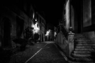 Evening lights in Fiuggi