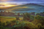 Dawn Over The Val D Orcia