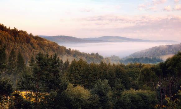 Misty morning in Bieszczady