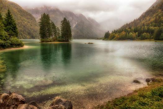 Emerald lake in the fall