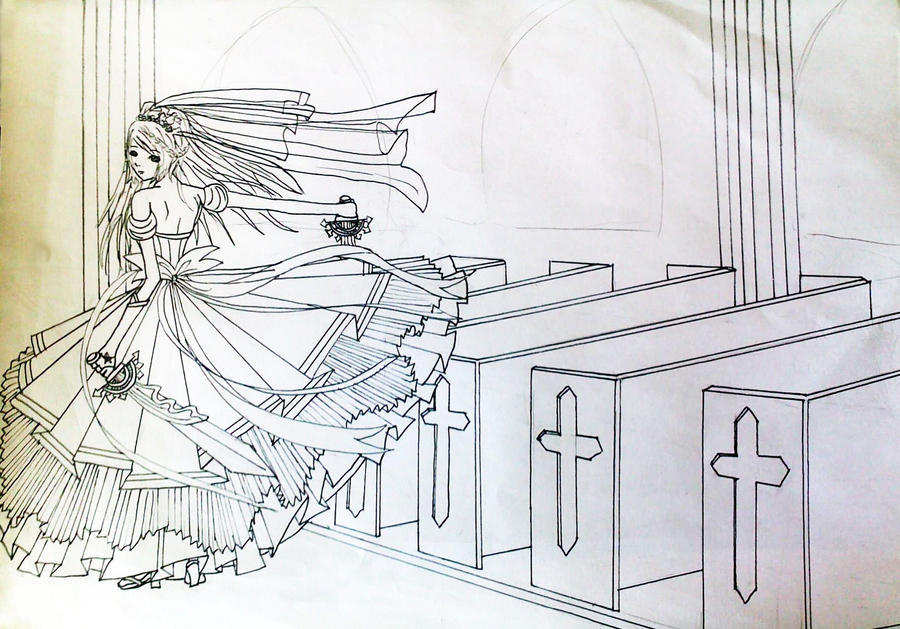 Line Art Wedding : Nia wedding dress line art by maymayv on deviantart