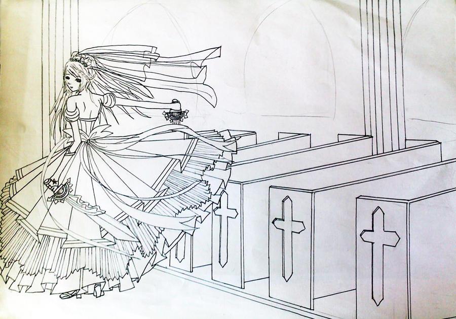 Line Art Wedding : Nia wedding dress line art by maymayv on deviantart
