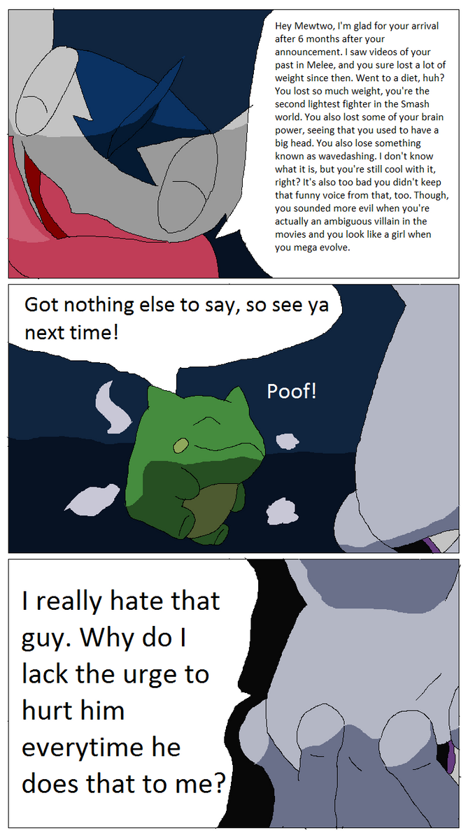 Another Greninja Logic About Mewtwo in Smash by Karasu-96