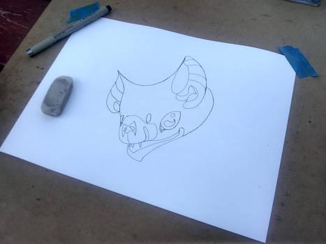 Sketching a Fancy Vampire (Bat)