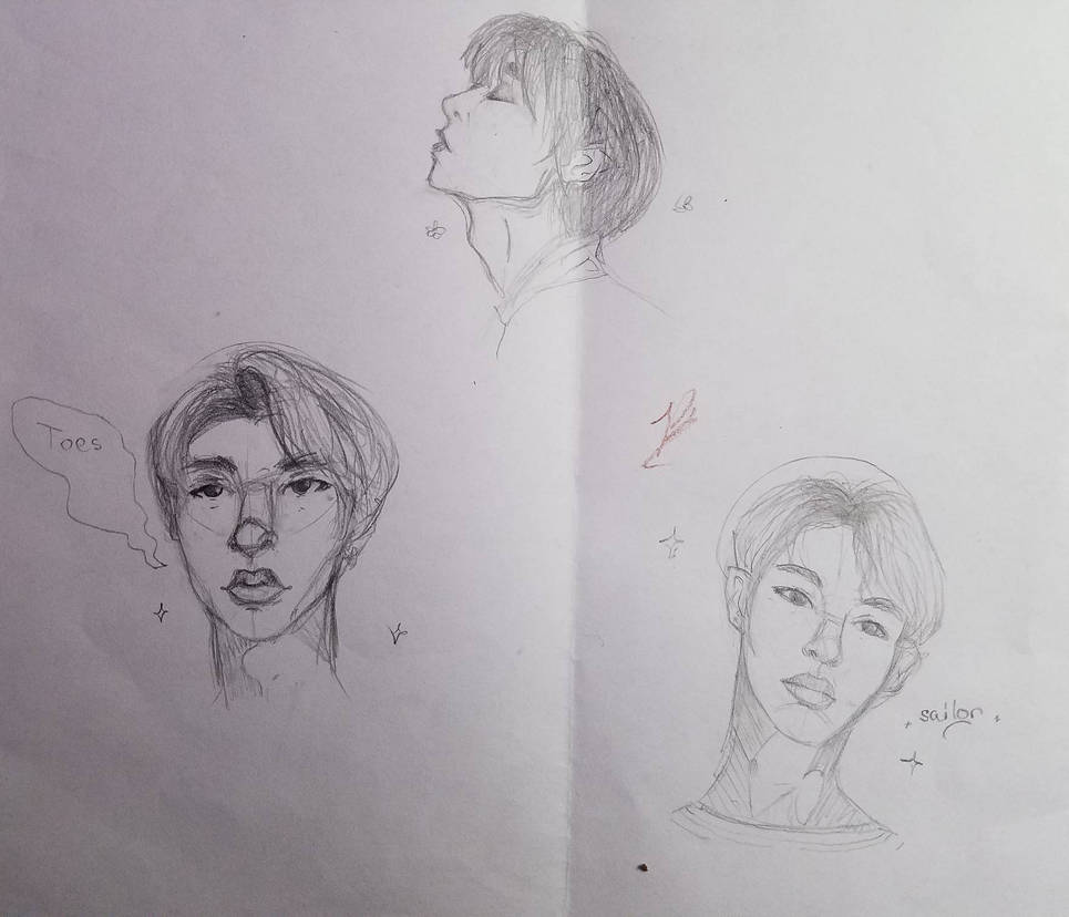 Weekend NCT sketches  by BloodbathDAnightwing
