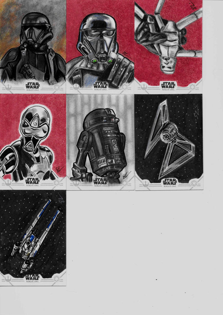 Topps Rogue One Series One sketch cards  by Skubis