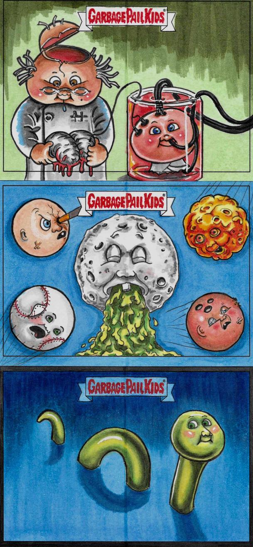 Garbage Pail Kids-Adam Geddon 2017 by Skubis