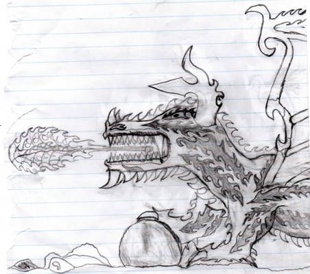 my first handdrawn dragon