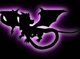 the purple dragon in black