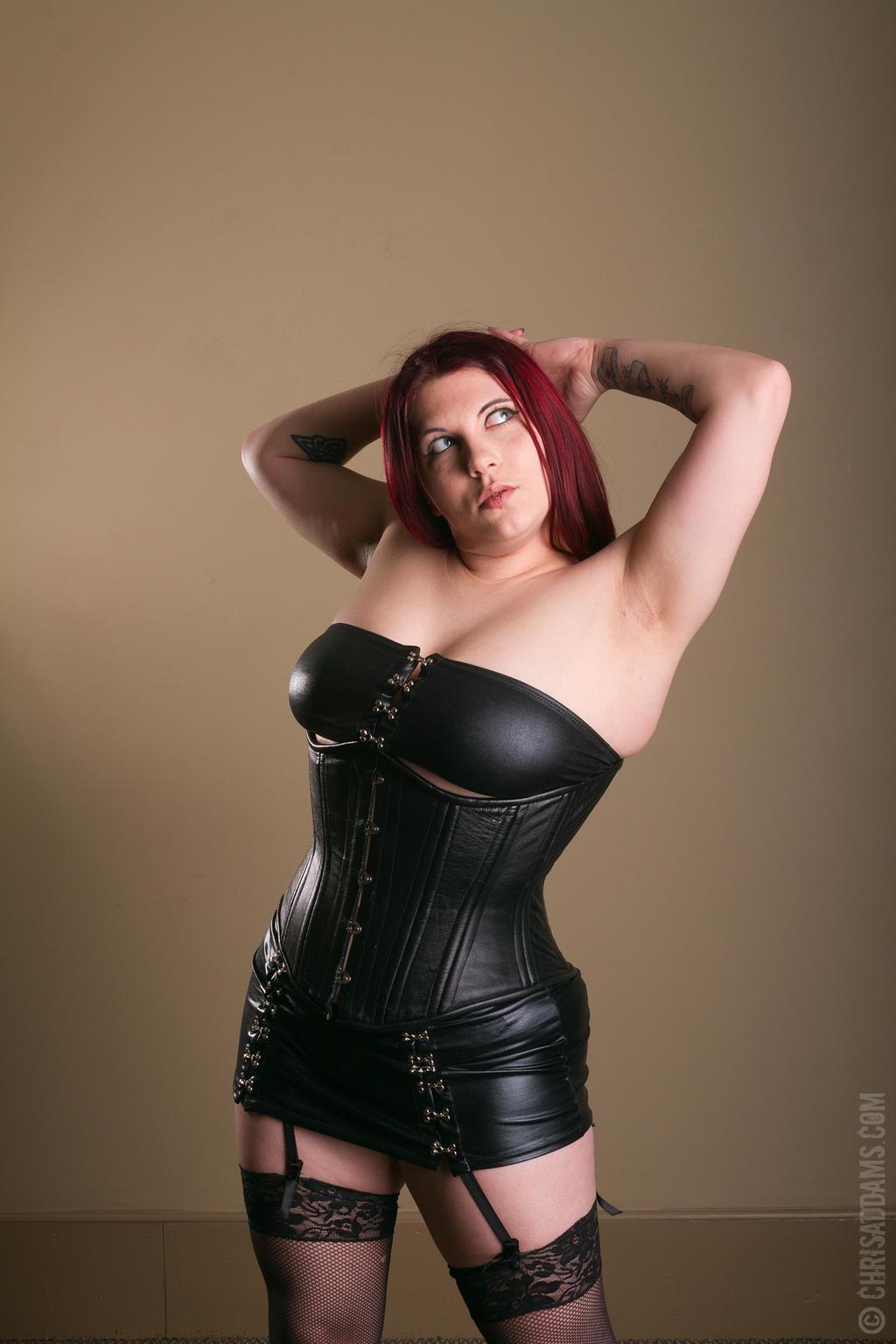 leather ladymorganlefey86 on deviantart