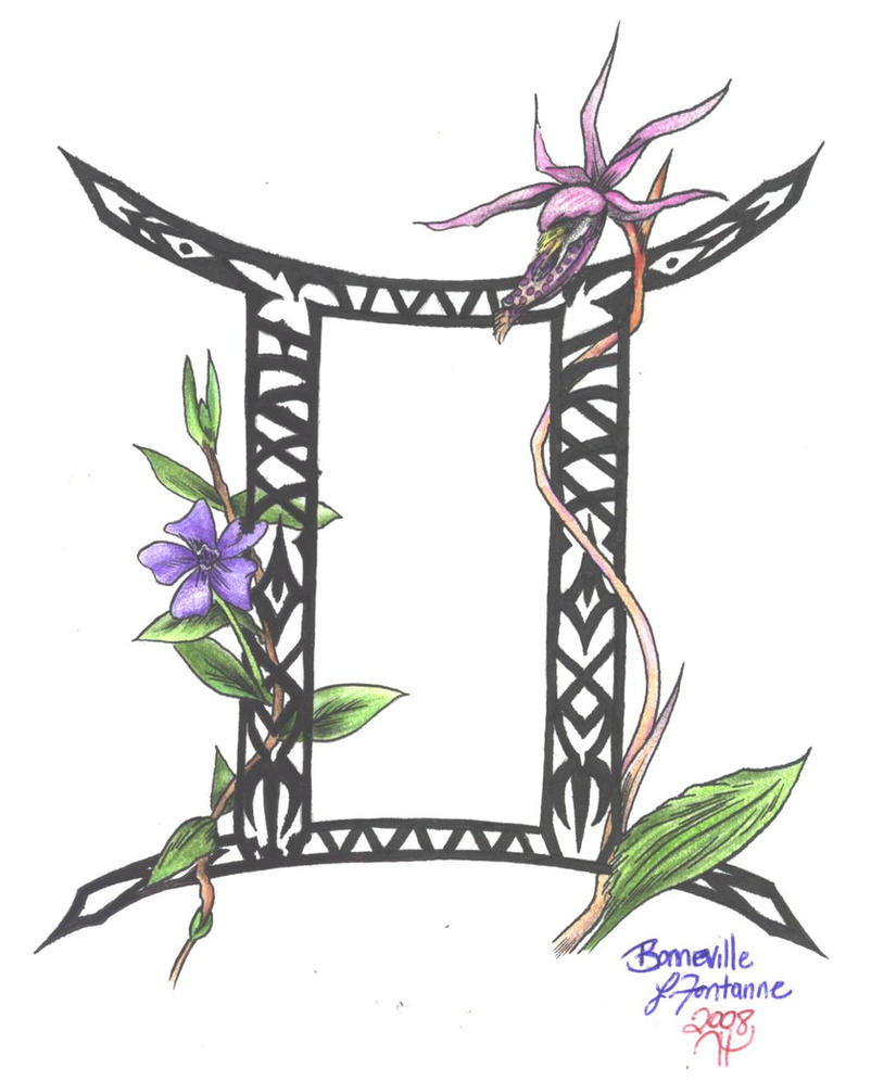Leo Zodiac Tattoo Designs Flowers