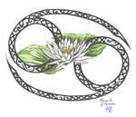 Zodiac Flower Design: Cancer