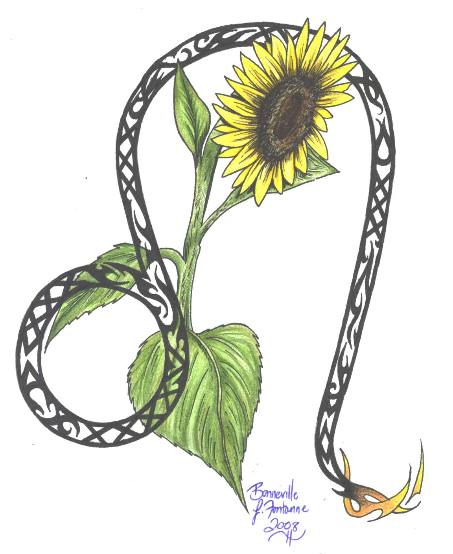 zodiac flower design leo by d angeline on deviantart. Black Bedroom Furniture Sets. Home Design Ideas