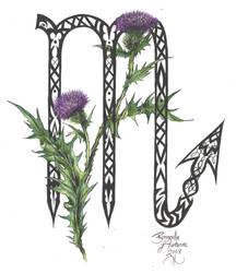Zodiac Flower Design: Scorpio by D-Angeline