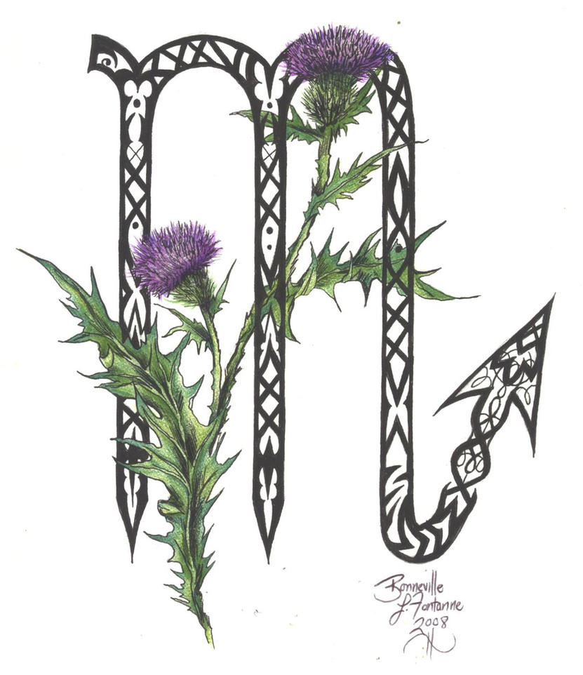 Zodiac Flower Design Scorpio