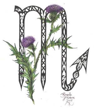 Zodiac Flower Design: Scorpio