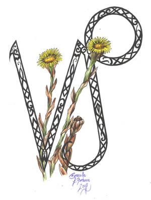 Zodiac FlowerDesign: Capricorn