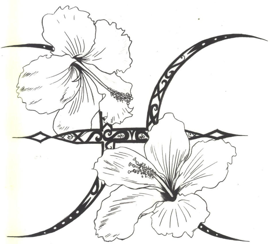 Pisces Hibiscus Tattoo INK by