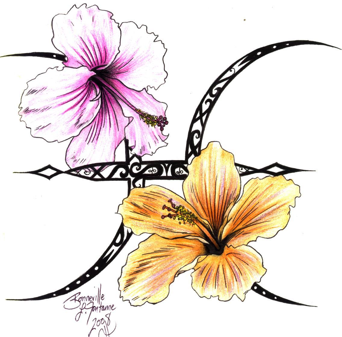 Tattoo Design Hibiscus Flower Tattoo Designs