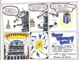 Dalek Birthday 'Bash' by D-Angeline