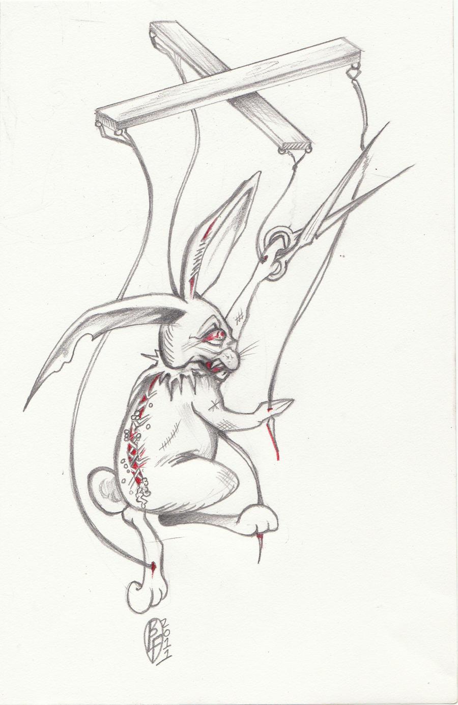 evil bunny puppet by d angeline on deviantart. Black Bedroom Furniture Sets. Home Design Ideas