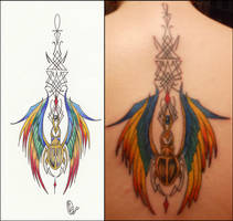 Scarab Tattoo and Design by D-Angeline