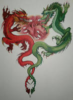 Dueling Dragons by D-Angeline