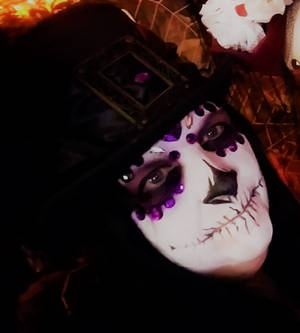 Day of the Dead in Purple