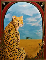 Window to the Savannah by D-Angeline